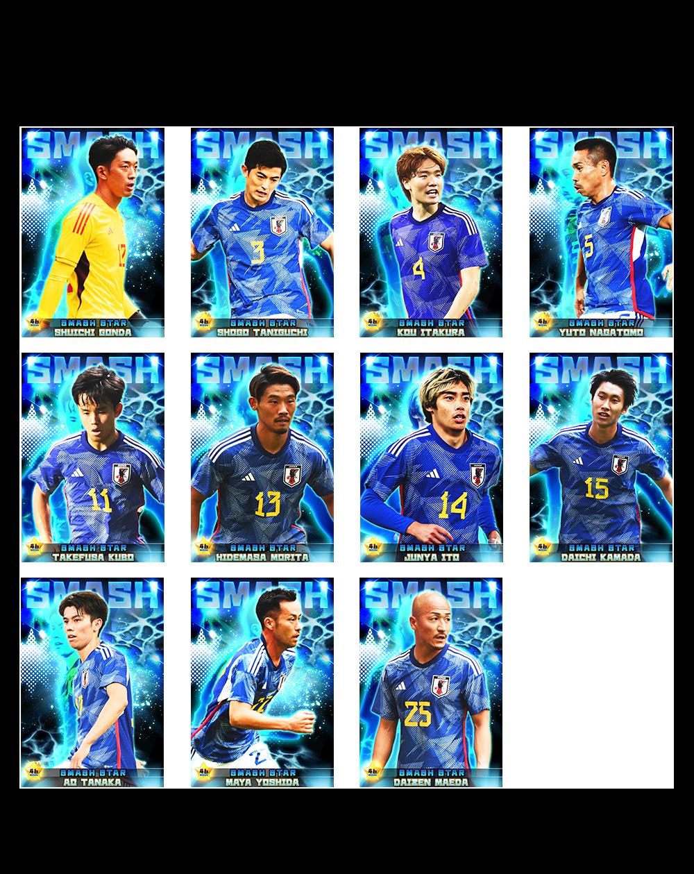 実名実写サッカー日本代表選手カード続々登場!